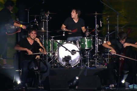 "image for article ""You Shook Me All Night Long"" - 2CELLOS in Pula, Croatia 7.3.2013 (AC/DC Cover) [YouTube Official Video]"