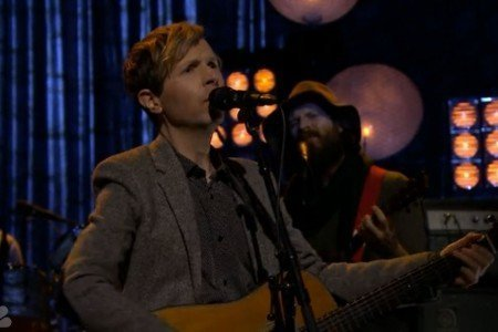 "image for article ""Waking Light"" & ""Say Goodbye"" - Beck on The Tonight Show Starring Jimmy Fallon 3.12.2014 [Videos]"