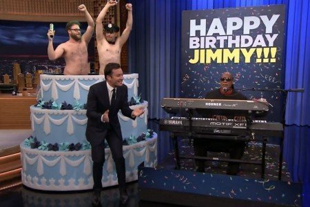 image for article Jimmy Fallon Gets A Birthday Surprise With Stevie Wonder, The Roots & More 9.19.2014 [NBC Official Videos]
