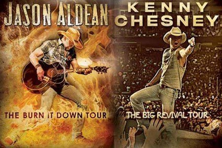 "image for article Jason Aldean & Kenny Chesney ""Burn It Down / Big Revival"" 2015 Tour Dates & Ticket Pre-Sales Announced"