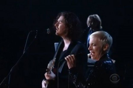 """Take Me To Church / I Put A Spell On You"" - Hozier & Annie Lennox at the 2015 Grammys 2.8.2015 [YouTube Official Video]"