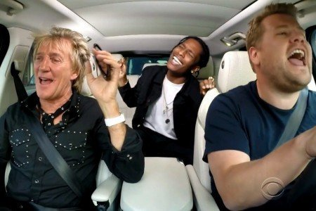 "image for article ""Rod Stewart & A$AP Rocky Carpool Karaoke"" - The Late Late Show with James Corden [YouTube Video]"