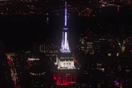 "image for article Empire State Building Synchronizes Lights to Grateful Dead's ""U.S. Blues"" [YouTube Official Video]"