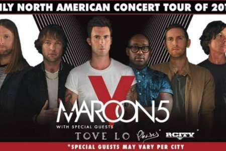 image for article Maroon 5 Reveal 2016 Tour Dates for North America: Ticket Presale Code Info