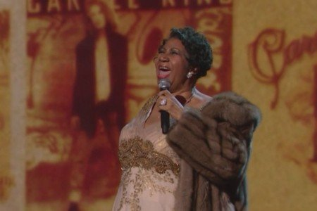 image for article Aretha Franklin, James Taylor, Janelle Monae, Sara Bareilles, and the Cast of 'Beautiful' Paid Tribute to Carole King at the 2015 Kennedy Center Honors [YouTube Video]