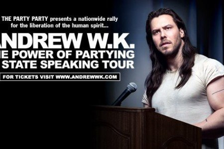 "image for article Andrew W.K. Plots ""The Power of Partying"" 2016 Tour Dates: Ticket Presale Code Info"