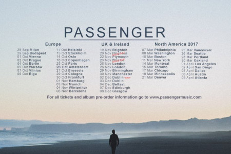 Passenger Sets 2017 Tour Dates in North America: Tickets Now On Sale