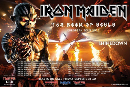 Iron Maiden Add 2017 World Tour Dates with Shinedown: Ticket Presale Code Info