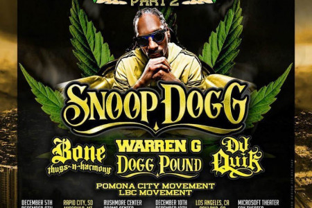 Snoop Dogg Unveils 2016 'Puff Puff Pass Tour Part 2' Dates with Bone Thugs-n-Harmony, Warren G, Tha Dogg Pound, and DJ Quik: Tickets Now On Sale