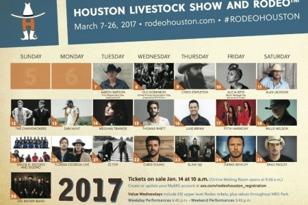 Tickets On Sale: 2017 Rodeo Houston Featuring Concerts by Willie Nelson, Zac Brown Band, and More