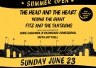 image for event ALT 92.3's Summer Open: The Head and The Heart, Young the Giant, Fitz & the Tantrums, and more