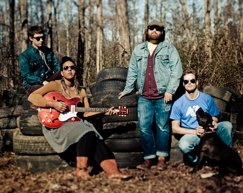 Alabama Shakes Official Photo - Brittany Howard, Heath Fogg, Zac Cockrell, Steve Johnson