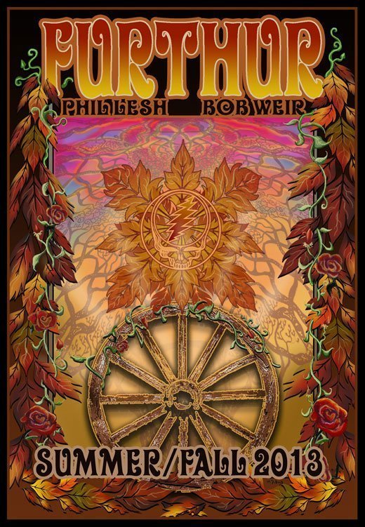 Furthur-Official-2013-Summer-Fall-Tour-Poster