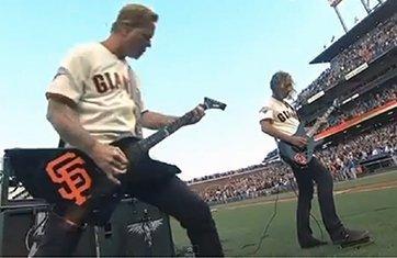 Metallica-Star-Spangled-Banner-San-Francisco-Giants-Game-Dodgers-2013