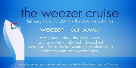 image for article Weezer Cruise 2014 Lineup Announced