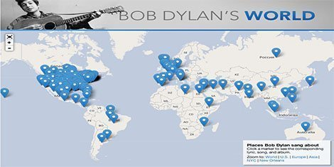 Bob Dylan World Map Slate Magazine