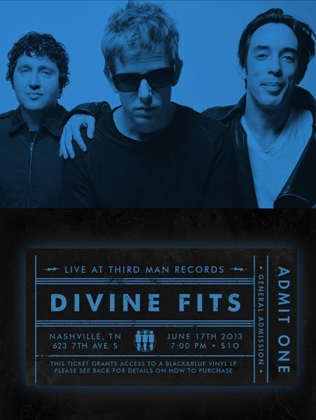 Divine-Fits-Third-Man-Studios-2013-Ticket-Poster