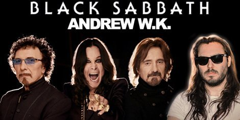 image for article Black Sabbath Chooses Andrew W.K. As Tour Opener