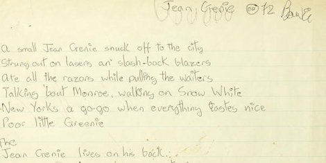 david-bowie-the-jean-genie-lyrics-auction-bonhams