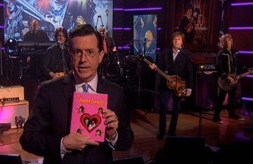 image for article Paul McCartney Hits Colbert Report For Interview & Performance
