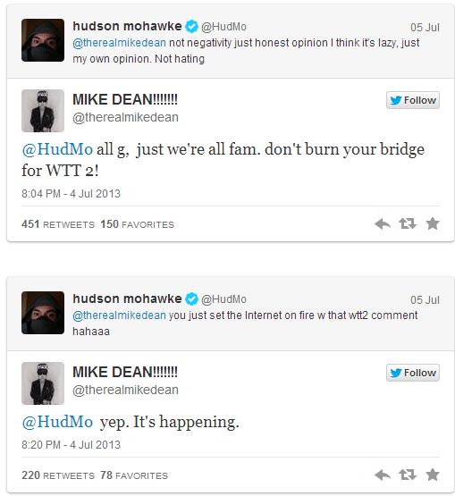 TWITTER - MIKE DEAN and HUDMO