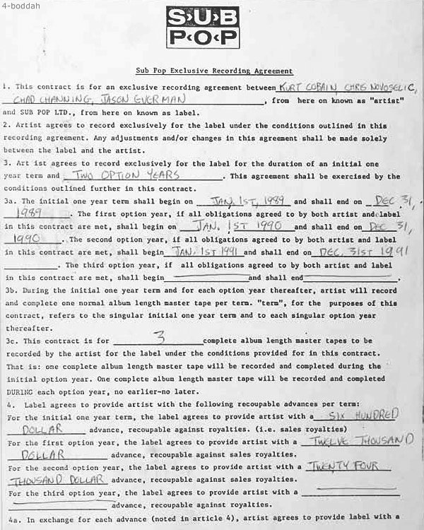 nirvana-subpop-contract-1989-first-page