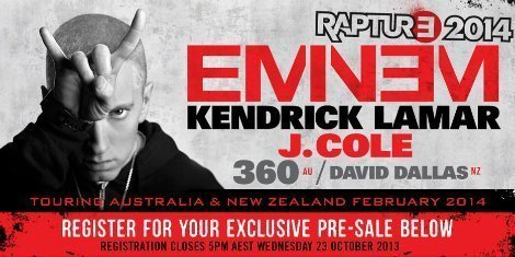 "image for article Eminem, Kendrick Lamar, and J. Cole Join Forces for ""Rapture Tour"" Down Under"