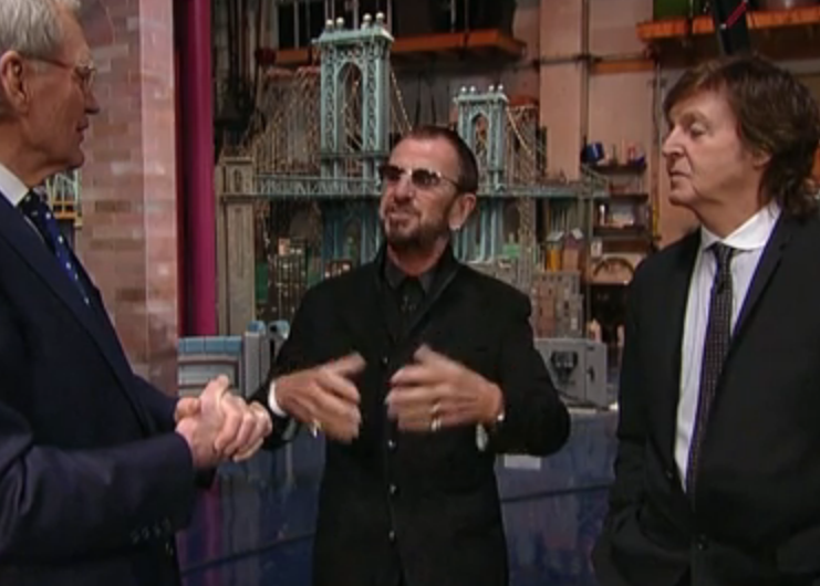 Paul McCartney And Ringo Starr Return To The Ed Sullivan Theater For Interview With David Letterman Videos