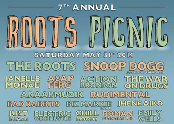 image for article Roots Picnic 2014 to Feature Snoop Dogg, Janelle Monáe, A$AP Ferg and Many More [Lineup + Ticket Info]