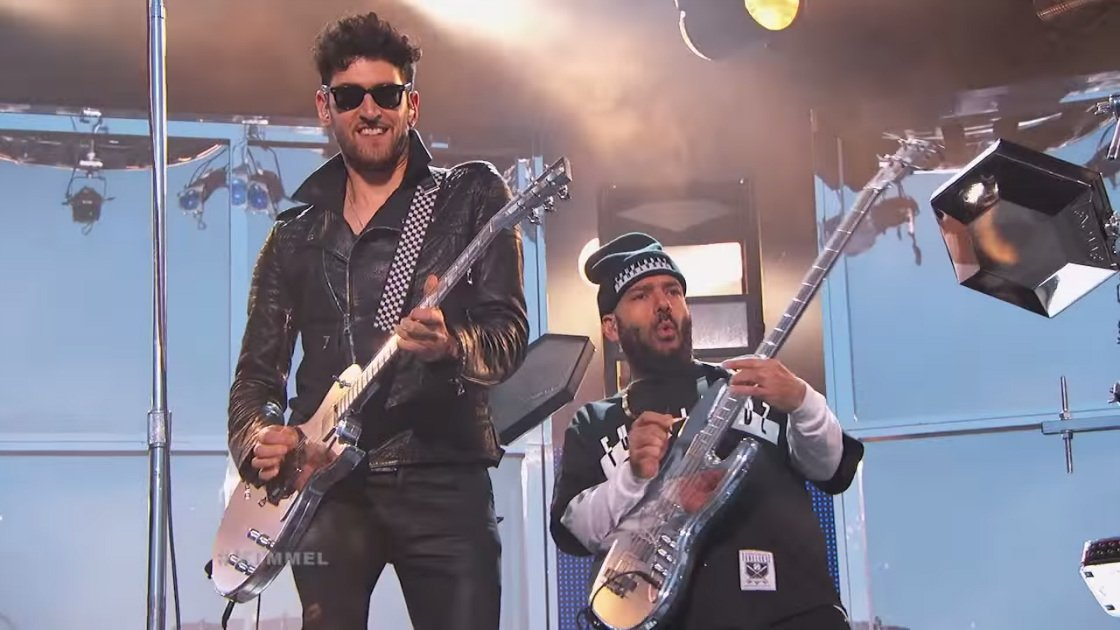 "image for article ""Jealous (I Ain't With It)"" & ""Come Alive"" - Chromeo on Jimmy Kimmel 4.22.2014 [YouTube Videos]"