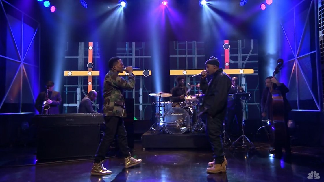 "image for article ""One Love"" & ""The World Is Yours"" - Nas ft Q-Tip on The Tonight Show Starring Jimmy Fallon 4.7.2014 [Official Videos]"