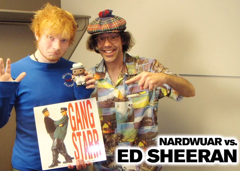 image for article Ed Sheeran Chats with Nardwuar About The Queen, Biggie and Pink Floyd [YouTube Video]