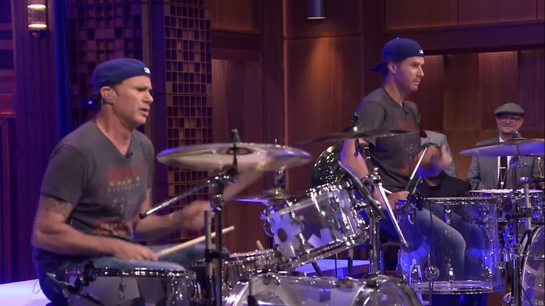 image for article Will Ferrell vs Chad Smith Drum-Off & RHCP Jams With The Roots on Fallon 5.22.2014 [Official Videos]