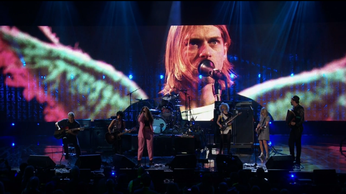 image for article Nirvana Rock and Roll Hall of Fame Induction & Performance 4.10.2014 [Full HQ Video]