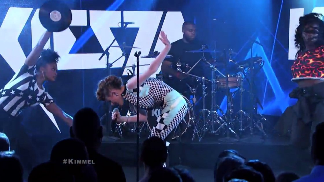 "image for article ""Hideaway"" & ""Giant In My Heart"" - Kiesza on Jimmy Kimmel Live 7.29.2014 [YouTube Videos + Lyrics]"