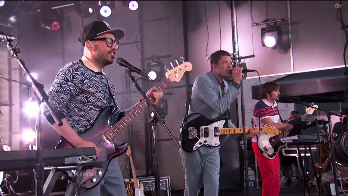 "image for article ""The Writing's On The Wall"" & ""Turn Up The Radio"" - OK Go on Jimmy Kimmel Live 7.22.2014 [YouTube Videos]"