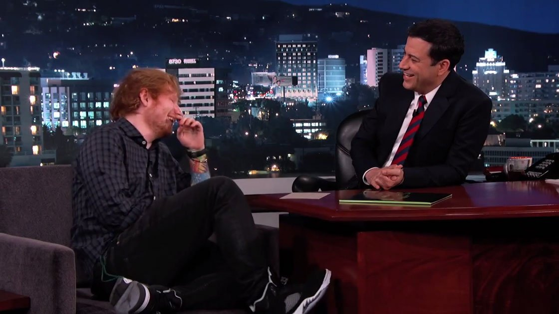 image for article Ed Sheeran Performance & Interview on Jimmy Kimmel 8.28.2014 [Official YouTube Videos]