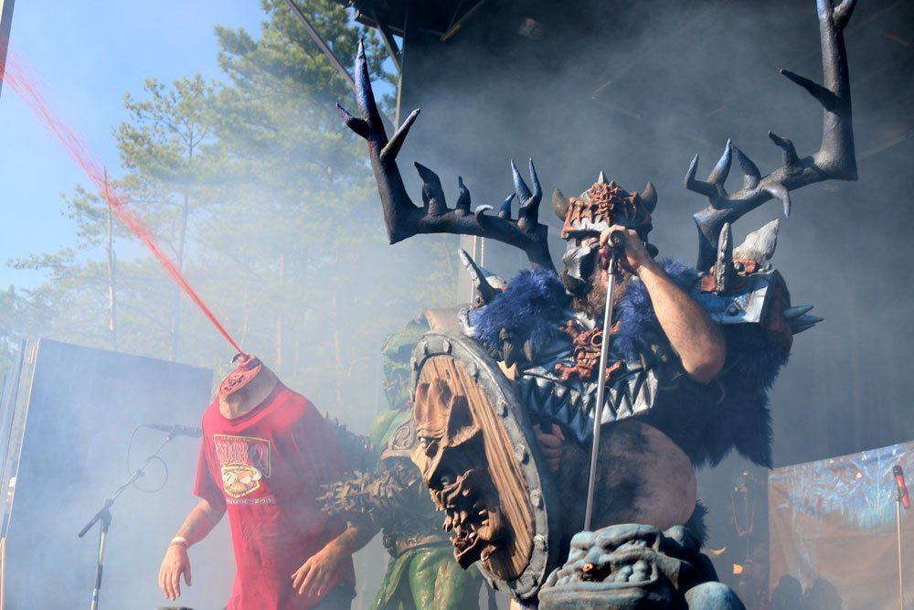 image for article Bloodstains, Booze, and Metal: Zumic's Trip to GWAR B-Q 2014 [Review + Photos]