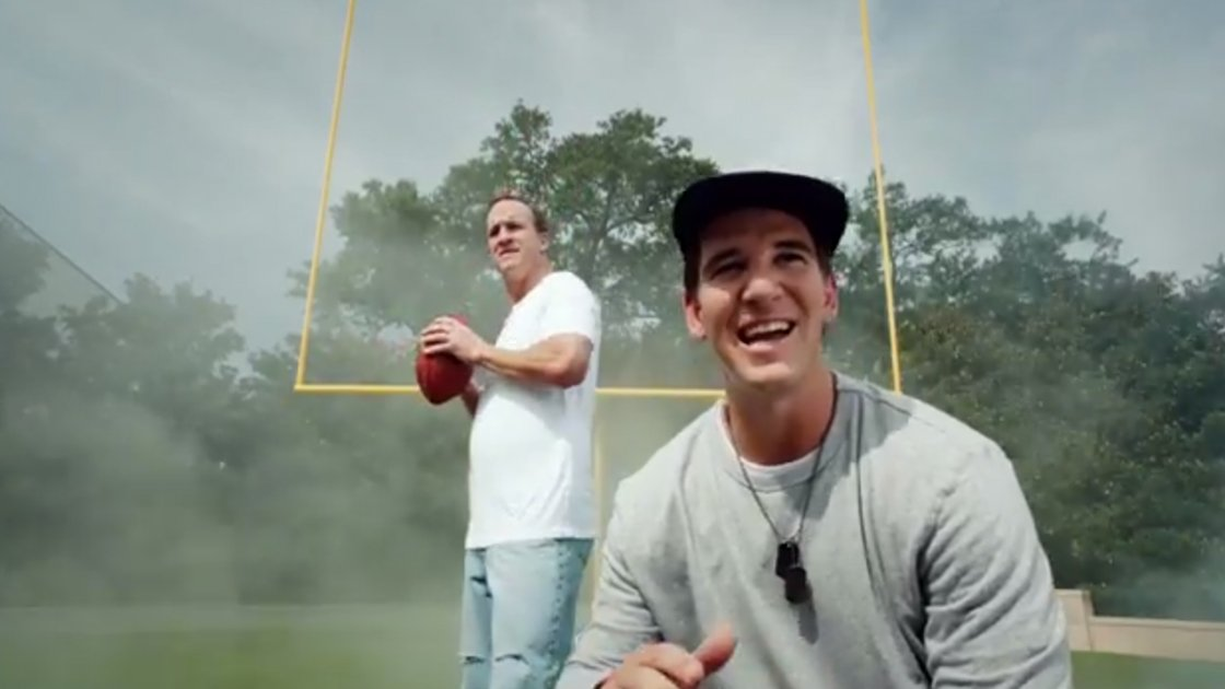 "image for article ""Fantasy Football Fantasy"" - Peyton & Eli Manning [YouTube Music Video Commercial + Lyrics]"