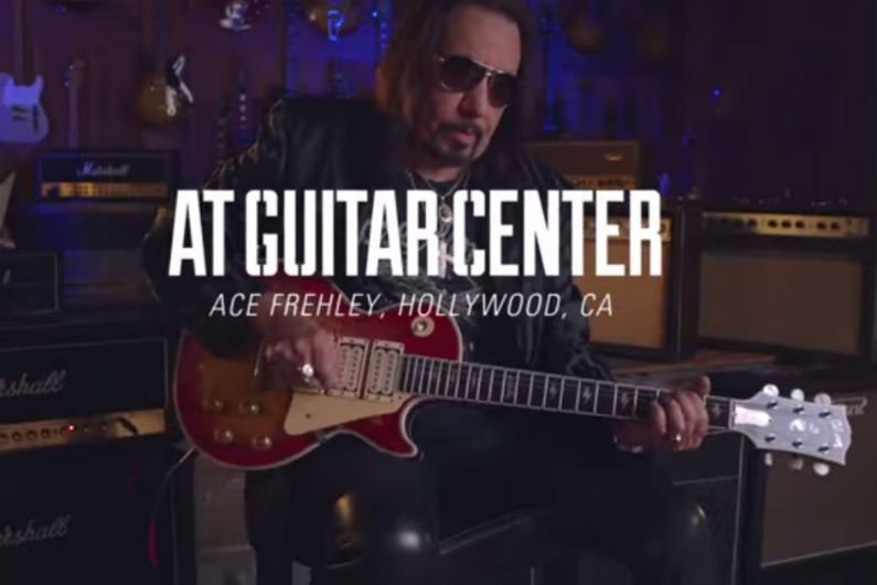 image for article Ace Frehley Talks Les Pauls and Musical Upbringing at Guitar Center [YouTube Video]