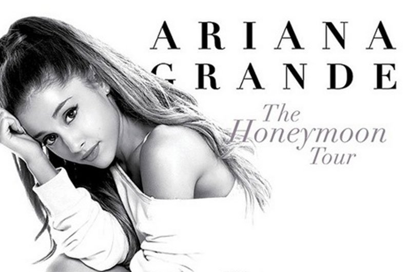 "image for article Ariana Grande ""Honeymoon"" 2015 Tour Dates & Ticket Sales"