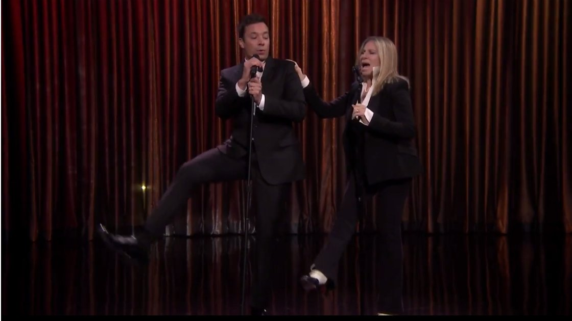 image for article Barbra Streisand and Jimmy Fallon Medley Duet on The Tonight Show 9.15.2014 [YouTube Video]