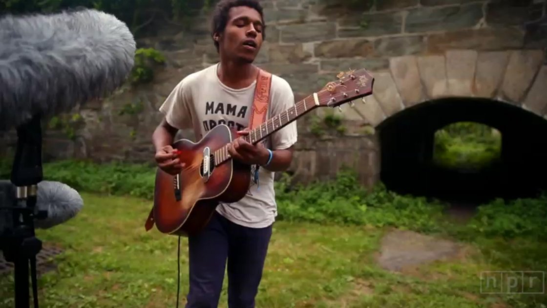 "image for article ""Have You Seen My Son?"" – Benjamin Booker at Newport 7.26.2014 [NPR YouTube Video + Alternate Lyrics]"