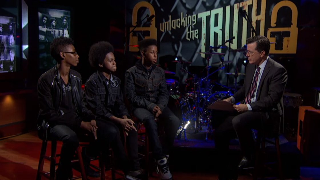 image for article Unlocking The Truth Performance and Interview on The Colbert Report 9.16.2014 [Official Videos]