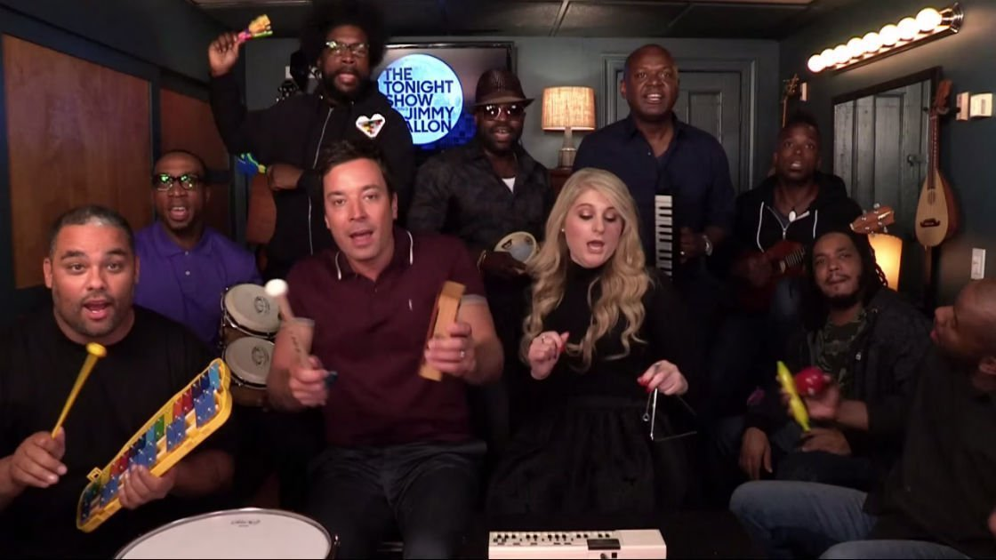 "image for article ""All About That Bass"" (With Classroom Instruments) - Meghan Trainor, Jimmy Fallon & The Roots [YouTube Video]"