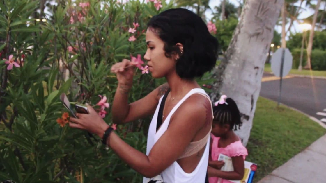 jhene-aiko-behind-the-seen-documentary-smelling-flowers