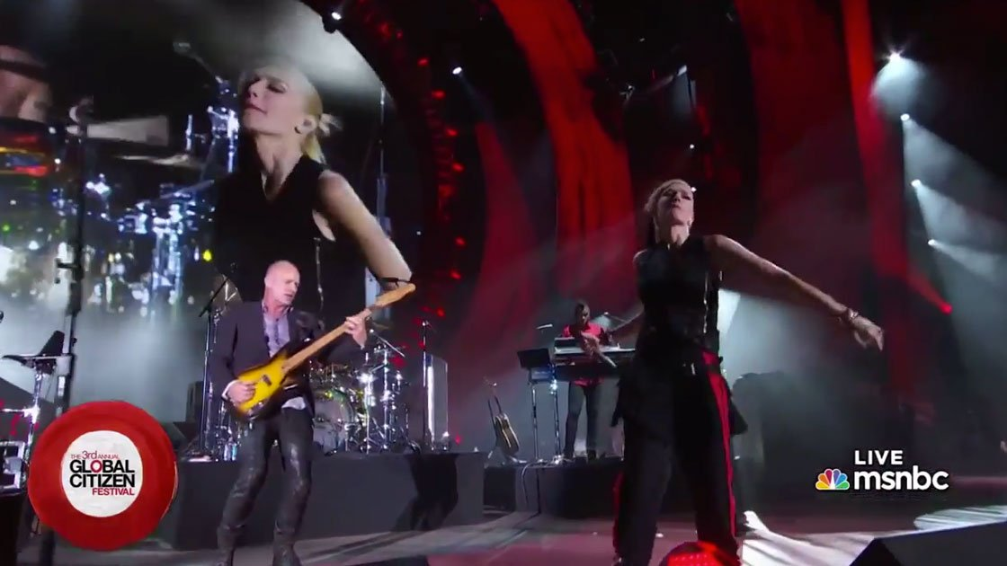 image for article No Doubt ft Sting Performance at Global Citizen Festival NYC 9.26.2014 [Official Videos]