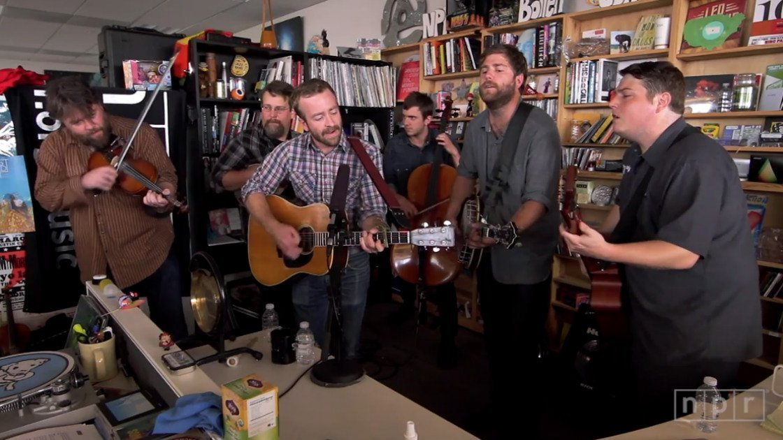 image for article Trampled By Turtles NPR Music Tiny Desk Concert 2014 [YouTube Video]