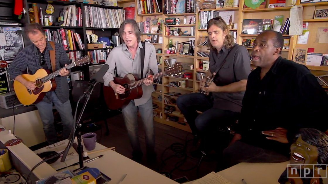 image for article Jackson Browne Tiny Desk Concert 2014 [NPR YouTube Official Video]