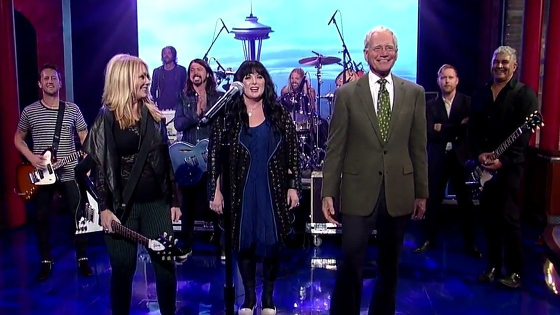 "image for article ""Kick It Out"" - Foo Fighters with Heart on David Letterman 10.14.2014 [YouTube Official Video]"